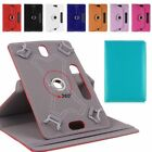 """Universal Folio 360° Smart Leather Case Cover For Android Tablet PC 7"""" 8"""" 9"""" 10"""""""