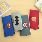 Retro Canvas Pen Pencil Case Coin Bag Makeup Brush Cosmetic Zipper Pouch Purse