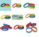 RUBBER Stretch BRACELETS/WRIST BANDS - 4 Pack - Party Bag Fillers Favours Gifts