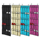 20 Pockets Hanging Over Door Shoe Organisers Storage Rack Bag Box Wardrobe Hook