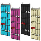 20 Pockets Hanging Over Door Shoe Organisers Storage Rack Bags Box Wardrobe Hook