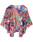 Label Be @ Simply Be RED FEATHER Print Waterfall KIMONO Jacket Szs 12/14 - 28/30