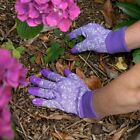 Town & Country Aquasure Fuschia Reinforced Fingertip Garden Gloves Medium TGL207