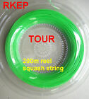 RKEP TOUR squash racquet racket string 200m (BLACK or WHITE or RED or GREEN)