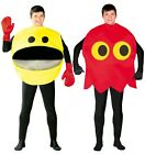 Mens Ladies Red Yellow 1980s 1990s Computer Game Fancy Dress Costume Outfit