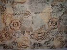 Lee Jofa Groundworks fabric remnant for craft embroidered floral Nolita mult clr