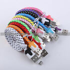 10FT Noodle Rope Braided Sync USB Data Charger Cable Cord for iPhone 5S 6 6 Plus