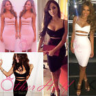 UK WOMENS LADIES SLIM SEXY BODYCON BANDAGE PARTY PENCIL DRESS SIZE 8 10 12 14