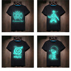 Anime NARUTO Men T-shirt Leisure Varnish  Neon Glow in Dark Tee Top Xmas Gift