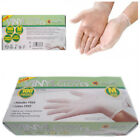 100 x Powder-Free Vinyl Box of Gloves Disposable Clear Food Prep Kitchen -Medium