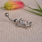 Sexy Beauty Turtle Piercing Body Hot Crystal Dangle Navel Belly Button Ring Bar
