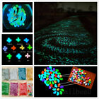 100x Glow in the dark Pebbles Stones Fish Tank Home Garden Aquarium Decoration
