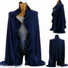 Shawl Mantle Shawl Poncho Wool Navy Blue 34/66 - JULIE- Woman -Charleselie94