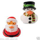 10 x Christmas Rubber Duck Floating Bath Time Toy Children Santa Snowman Xmas BN