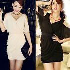 Sexy Womens Wrapped V neck Hip-wrapped Chic Mini Dress Clubwear Bodycon New Hot