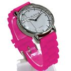 FW824H New White Dial Water Resist Silicone Pink Band Ladies Women Fashion Watch