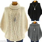 Poncho Sweater Mantle Wool Alpaga Thick Winter 36/48 ELODIE Woman CharlesElie94