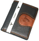 New Men's Leather Wallet Credit Card Slot Zippered Pocket ID Photo Holder Purse