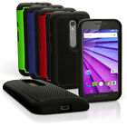 Hard Back Cover & Silicone Gel Bumper Case for Motorola Moto G 3rd Gen XT1540