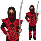 CHILDRENS KIDS DELUXE SAMURAI NINJA MARTIAL ARTS HALLOWEEN FANCY DRESS COSTUME