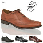 Mens boys Red tape leather lace brogue oxford comfort formal office shoes size