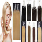1g Thick Double Drawn Hair Extensions Loop Micro Silicone Rings Beads Human Hair