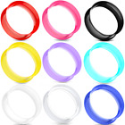 Pair-ultra Thin Skins Tunnels-silicone Ear Skins-ear Gauges-soft Ear Plugs