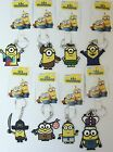 MINIONS MOVIE  DESPICABLE ME   2D KEY CHAIN - CHOOSE CHARACTER  NEW WITH TAGS