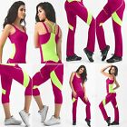 Stretch Fajate Fit Woman's Work Out Push Up Pants, Capri, Tops, Tanks, Shinny