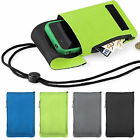 Mobile Smart Cell Phone Case Money Belt Neck Strap Zip Card Holder Pouch Wallet