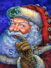 Fabric Art Quilt Blocks  * Christmas Santa Claus *  15-252  FREE SHIPPING