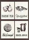 New Crackin' Pear Play on Words Metal Tin Sign