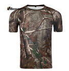 Airsoft Tactical Quick Drying T-shirt Military Paintball Shirt Leaf Camo S-XXL