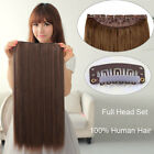 """Tengda 16"""" One Piece Clip In Remy Extensions 100% Real Human Hair 100g 15 Colors"""