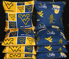 Cornhole Bean Bags w University of WEST VIRGINIA MOUNTAINEERS Fabric Game Toss