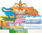 Dinosaur Bookmarks, Clip on Page Markers, Diplodocus,Pteradactyl, T-Rex