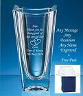 Personalised Engraved Crystal Glass Vase valentines day mothers day gifts boxed