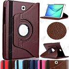 Leather 360 Degree Rotating Stand Case For Samsung Galaxy Tab S2 8.0, 9.7 T710