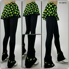 Ice Figure Skating Dress Practice Pants Trousers VCSP31 Skirtpants Neon PD XS XL