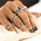 5Pcs/Set Fashion Women Gold Silver Above Knuckle Finger Ring Band Midi Rings New
