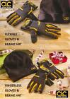 CLC Work Gear Professional Winter Safety Gloves with Beanie Hat