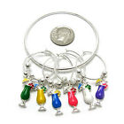 Wine Glass Charms Drink Markers Charm Rings / Set Of 6