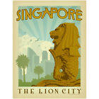 Singapore The Lion City State Wall Decal World Travel Vintage Style