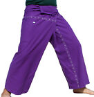 Deep Purple Funky Stitch Thai Cotton Fisherman Pants