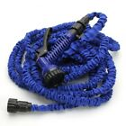 Flexible Expandable Garden Hose w/ Spray Nozzle 25ft/50ft/75ft/100ft  Green/Blue
