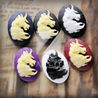 New Style Unicorn Flatback Resin Cabochons Cameo Setting Choose 25x18/40x30mm