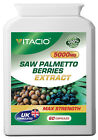 Saw Palmetto Extract 5000mg Men's Health, Bladder, Sex Drive, Prostate Pills