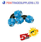 MDPE  Compression Fitting Elbow Various Sizes for Water Pipe 20mm - 50mm