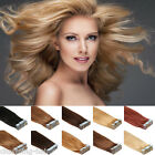 100% Real Remy Human Hair Extensions Tape In Seamless Skin Weave 16''-24''20Pcs