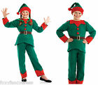 Kids ELF Santa's Little Helper Christmas Fancy Dress Boys Girls All sizes 4-12yr